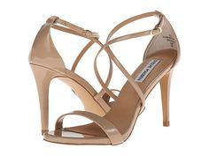 Strappy nude heels.    Steve Madden Feliz