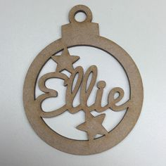 MDF Laser Cut Christmas Bauble Tree Decoration Add Your Name Personalised in…