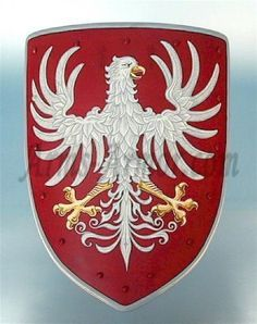 Coat of arms - white eagle Super Pictures, Medieval Shields, Zinn, Medieval Knight, Arm Armor, Crests, Coat Of Arms, Tatoos, Eagle