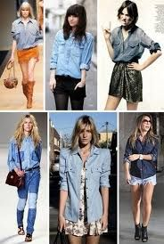 camisa jeans -