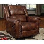 Poundex Furniture - Chocolate Microfiber Recliner - F7083  SPECIAL PRICE: $395.00