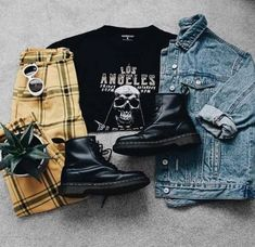 Suivez ALTGirl Alternative Style Grunge Style Gothique Style Grunge Girl Grunge O . Neue Outfits, Style Outfits, Teen Fashion Outfits, Edgy Outfits, Retro Outfits, 80s Fashion, Trendy Fashion, Vintage Outfits, Cool Outfits