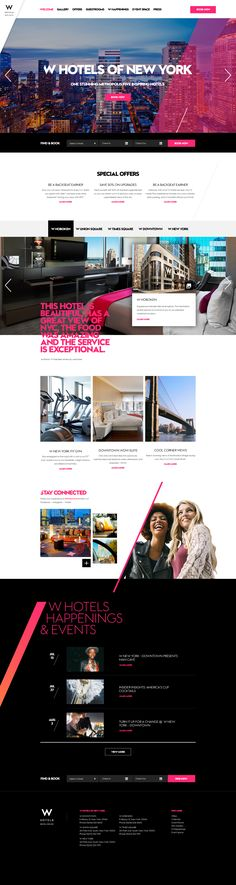 W Hotels of New York City Destination Website Design by Agency Dominion