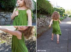jungle ruffle dress collage by skirt_as_top, via Flickr