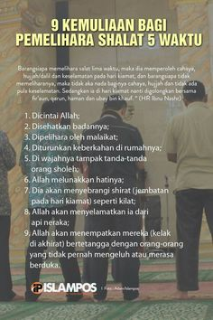 kemuliaan pemelihara shalat 5 waktu  #selfreminder #selfnote #biidznillah #insyaAllah Reminder Quotes, Self Reminder, Words Quotes, Life Quotes, Beautiful Islamic Quotes, Islamic Inspirational Quotes, Hijrah Islam, Love In Islam, Learn Islam