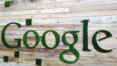 All companies are into being green and eco friendly, so when Google designed signage for one of their offices, they decided to go with an eco-friendly look.  The wood paneling with cut outs in the for