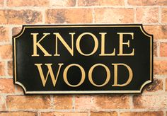 Traditional English House Sign - made to order in Northamptonshire and dispatched worldwide  www.rockartisansigns.co.uk House Signs, English House, Home Crafts, It Cast, Lettering, Traditional, Wood, Home Decor, Decoration Home