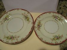 Vintage Embassy China from Japan Small Floral Dishes Set of Two (2)