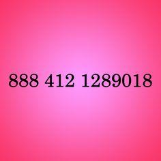Código 888 412 1289018 para AMOR