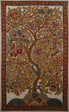 dwaraka kalamkari tree of life | Tree of Life,Price: $ 1500, Medium: Mordants & natural dyes on cotton ...