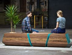 Boxcar Bench by Revolution Design House ----- 13 Fun Furniture Designs That Combine Function & Nature