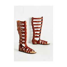 Madden Girl Safari Glad, but True Sandal ($32) ❤ liked on Polyvore featuring shoes, sandals, brown, slingback, gladiator shoes, studded gladiator sandals, faux leather gladiator sandals, brown gladiator sandals and strap sandals