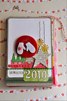 """Amy Tangerine's December Daily 2010 Cover"" ... Click on the 'DECDAILY2010' category to view the rest of her December Daily 2010 posts."