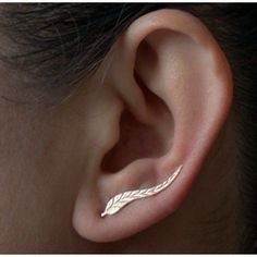 2017 Vintage Jewelry Exquisite Gold Plated Feather Stud Earrings                      – All Things Lovely Shop