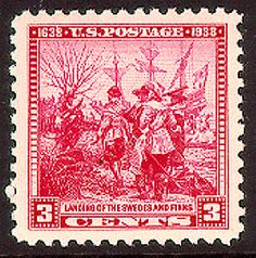 US Stamp Gallery >> Landing of first Swedish & Finnish settlers