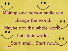 I love to make others smile!