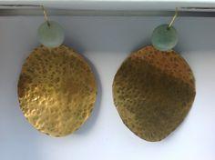 Orecchini in ottone # DONA # Bijouxzizicreation.blogspot.com