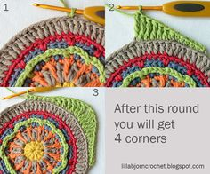 Circles of the Sun Mystery CAL 2015 - overlay crochet - Block 1. Free crochet pattern by LillaBjornCrochet