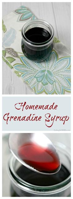 Homemade Grenadine Syrup - so easy to make from scratch with only 3 ingredients. This classic cocktail bar staple is a must - why buy when you can DIY | Cooking In Stilettos ~ http://cookinginstilettos.com