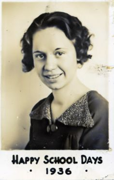 My Aunt Lois Gretzinger, who passed away in 1997, one month after my mother died.  She was the oldest of five children.