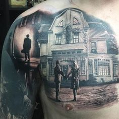 Chest piece by Nipper Williams. #inked #Inkedmag #tattoo #chest #realism #scenic #art