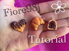 Polymer Clay Tutorial : Waffle a Cuore, Croissant e Nutella toast ❤️ (fimo) - YouTube