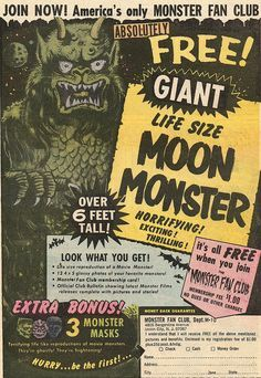 """comic book ads"" ""70s"" ""monster"" - Google Search"