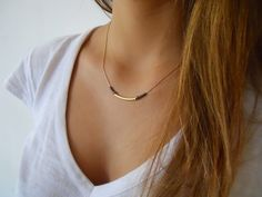 Other – Goldfilled Necklace - Tube and Beads – a unique product by Dana-Gal-kohen via en.DaWanda.com
