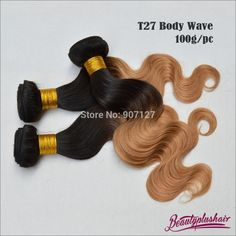 short body wave hair no shedding no tangling great quality for salon, the price is great ombre body wave hair extensions brazilian ombre hair Ombre Hair Weave, Indian Hair Weave, Ombre Hair Extensions, Human Hair Extensions, Relaxed Hair, Big Curly Hair, Deep Curly, Peruvian Hair Weave, Deep Wave Brazilian Hair