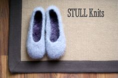 Wool Felted Stull slippers  Silver Grey  light  Made by StullKnits, $55.00