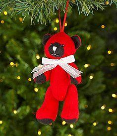Dillards Trimmings Santas Toy Bag 7 Red Bear Ornament #Dillards