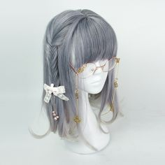 Sweet Harajuku Original Blue And Grey Mixed Gradient Ombre Lolita Wigs YS055