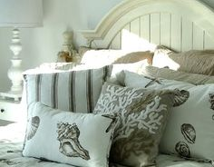 Beach Cottage Decorating Ideas | and a sweet beach bedroom in neutral beige sand colors seen in