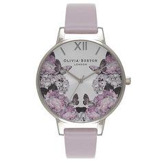 Oliva Burton Winter Garden Hydrangea Lilac & Silver Watch £85.00