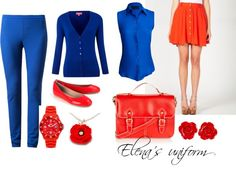 """Elena's uniform"" by msofl ❤ liked on Polyvore"