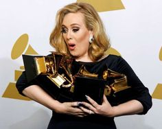 """FEBRUARY 13,  2012: Adele won all the six Grammy Awards for which she was nominated. The wins included Album of the Year and Best Pop Vocal Album for """"21,"""" Best Pop Solo Performance for """"Someone Like You,"""" Song of the Year, Record of the Year and Best Short Form Music Video for """"Rolling in the Deep."""""""