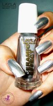 Layla Cosmetics Ceramic Effect Nail Polish ~ Pure Silver #27 [shimmer effect]... $8.00...