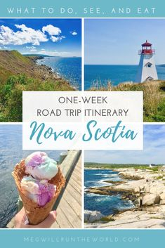 Planning a one-week trip to Nova Scotia? This itinerary will help you decide what to do, eat, and drink. From the Cabot Trail on Cape Breton Island to Halifax, this road trip covers the highlights of Nova Scotia. Read more at . Cabot Trail, East Coast Travel, East Coast Road Trip, Quebec, East Coast Canada, Nova Scotia Travel, Vancouver, Annapolis Valley, Toronto