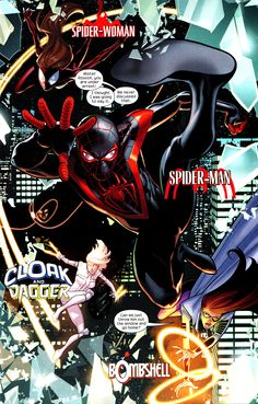 Ultimate Comics Spider-Man #28 - art by Dave Marquez, words by Brian Michael Bendis