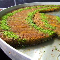 Kadayif stuffed with loads of pistachio and coated with sweet syrup | giverecipe.com
