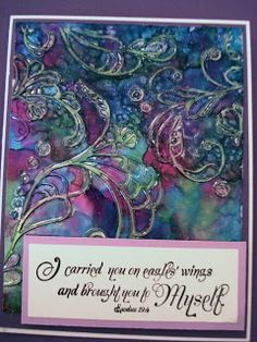 Alcohol ink, Shimmer Sheets and an embossing folder