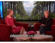 Taylor Swift on The Ellen Show