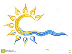 Vector Images and Royalty Free Clip Art and Illustrations, available from Dreamstime. Access our online collection of clip art images free, by registering with us today! Sun Tattoos, Body Art Tattoos, Sunshine Logo, Sun Dawn, Sea Logo, Free Clipart Images, Free Images, Photography Pics, Surf Art