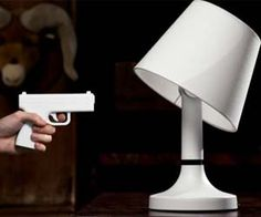 Control the lighting in your home with the pull of the trigger with these remote controlled gun lamps. With a range of nearly fifty feet, the lamp shade will tilt its angle when you shoot it to turn the light off. It's a perfect gift idea to brighten up an otherwise dull home.  Buy It  $299.99