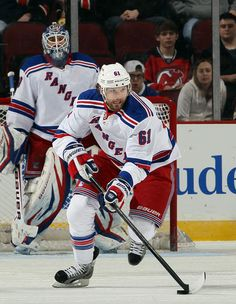 Rick Nash #61 of the New York Rangers (Photo by Elsa/Getty Images)