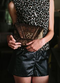 Current clutch crush >> The Cloud 9 Clutch in Black Bronze Boa!