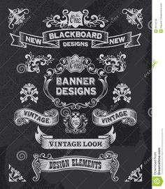 Chalkboard Banner And Ribbon Design Set - Download From Over 26 Million High Quality Stock Photos, Images, Vectors. Sign up for FREE today. Image: 33144744