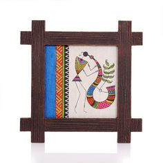 Wooden Wall Hanging - Jute Art Warli | #Wedtree #ReturnGifts #OnlineShopping