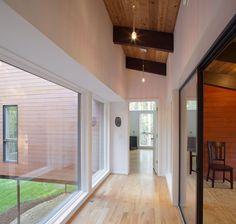 Hall, Patio Doors, Deck House Renovation in Chapel Hill, North Carolina