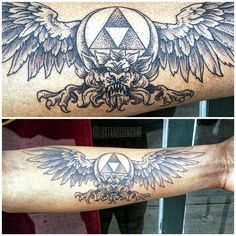 © Phil Tworavens #Triforce #tattoo